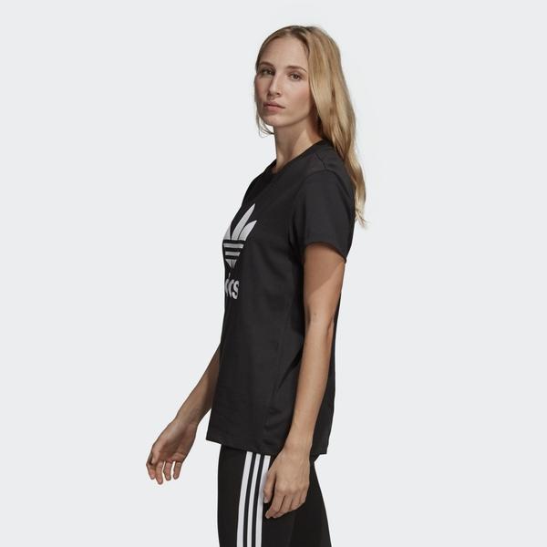 【現貨】ADIDAS BOYFRIEND TREFOIL 女裝 短袖 休閒 純棉 三葉草 黑【運動世界】DX2323
