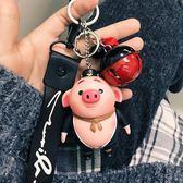 卡通鑰匙扣豬八戒公仔掛飾男女款汽車鑰匙鏈韓國創意掛件