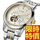 男鏤空手錶機械錶-自信隨意精緻陀飛輪男腕錶5色54t5【巴黎精品】