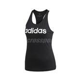 adidas 背心 Essential Linear Slim Tank 黑 白 女款 純棉 飛輪 【ACS】 DP2359