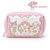 日本限定 三麗鷗 × MANUFATTO 美樂蒂 酷洛米 PIANO 午茶版 化妝包 / 收納包