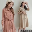 【天母嚴選】兩穿顯瘦風衣式洋裝(共二色)...