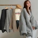 現貨-MIUSTAR 好搭好保暖!羊毛粗線針織罩衫外套(共3色)【NH2880】