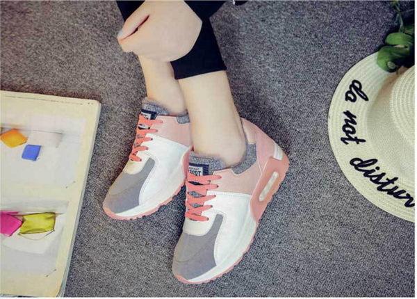 ★F-2❤ 愛麗絲的最愛☆.☆韓版時尚*搶眼配色經典運動鞋/厚底內增高休閒鞋/氣墊鞋