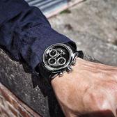 BENTLEY 賓利 / BL1684-10011 / 藍寶石水晶玻璃 三眼計時 日期 日本機芯 德國製造 真皮手錶 黑色 42mm