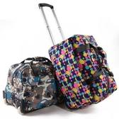 旅行行李袋-休閒手提大容量印花拉桿包5款73b29【時尚巴黎】
