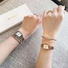 韓國we鋼帶sure女錶金屬防水石英錶小方錶手錶女簡約氣質學生