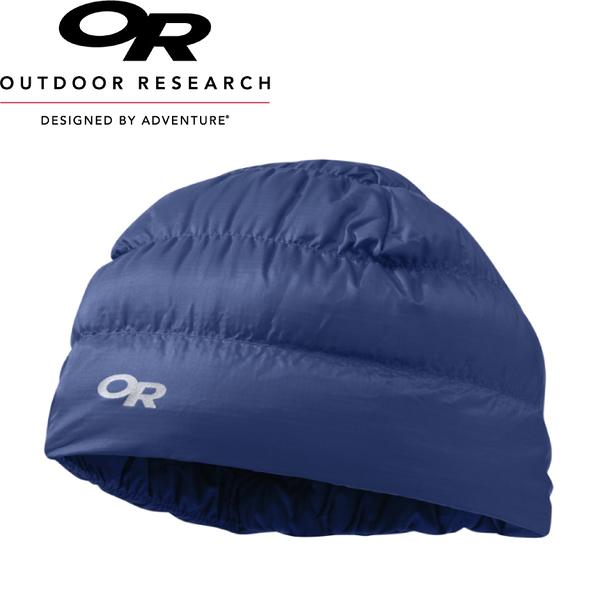 【Outdoor Research 美國 Transcendent Down Beanie輕量保暖羽毛帽《暗藍》】243485/防水透氣/輕便