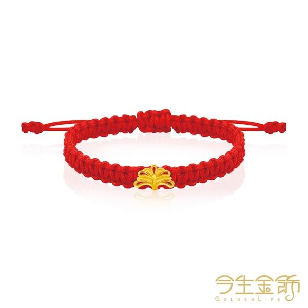 今生金飾 雀月屏手繩 黃金彌月串珠手繩