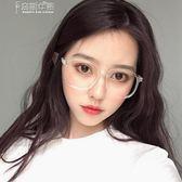 近視眼鏡女有度數防輻射正韓潮眼睛透明網紅同款ins平光素顏鏡框