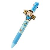 〔小禮堂〕大寶 日製造型多色原子筆《藍》0.5mm.四色筆.自動筆.朝氣運動系列 4550337-29252