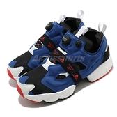 Reebok 休閒鞋 Instapump Fury Boost 藍 黑 白 男鞋 女鞋 鋼彈配色 雙品牌聯名 運動鞋 【ACS】 FY8776