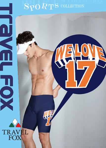 【Travel Fox夏之戀】潮流運動風七分男泳褲-S12901
