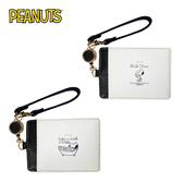 【日本正版】史努比 沐浴系列 彈力 票卡夾 票夾 證件套 悠遊卡夾 Snoopy PEANUTS 031248 031255