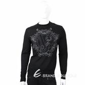 VERSACE 經典品牌圖騰黑色針織羊毛衫 1710574-01