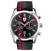 【僾瑪精品】Scuderia Ferrar 法拉利 沸騰競速計時皮帶運動錶-44mm/FA0830177