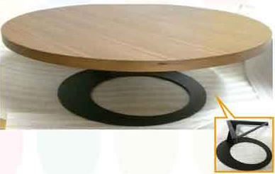 【南洋風休閒傢俱】桌椅桌腳系列-同心圓桌 休閒桌 洽談桌 餐桌(589-3)