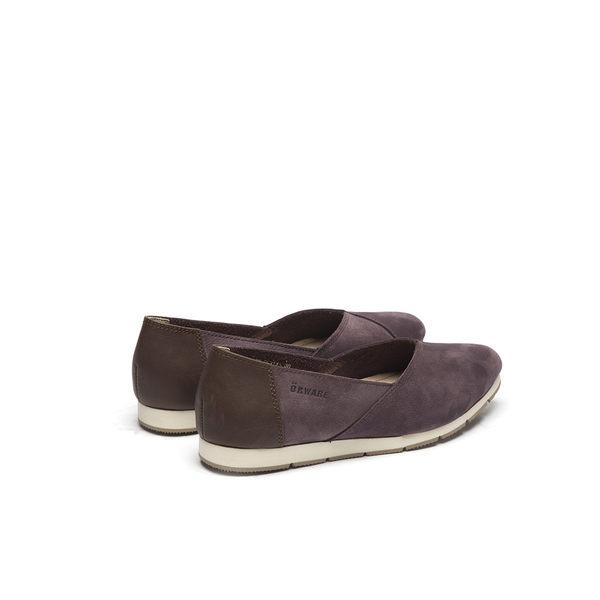 ORWARE-小尖頭素面牛皮懶人鞋652115-00紫