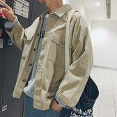 外套男 秋季ins學生工裝夾克韓版男裝潮流外套超火休閒上衣   琉璃美衣