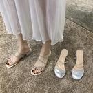 高跟涼鞋涼鞋女仙女風2020新款夏季百搭水鉆粗跟中跟高跟鞋網紅一字帶羅馬 非凡小鋪