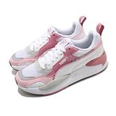 Puma 休閒鞋 X-Ray 2 Square 白 粉紅 女鞋 復古慢跑鞋 老爹鞋 運動鞋 【ACS】 37310806