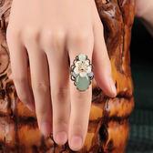 戒指 古風戒指石頭中國風古典複古宮廷古代食指民族風網紅裝飾品指環女