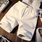 夏季休閒褲男士短褲修身中褲青年沙灘褲運動韓版五分褲子5分潮流 MOON衣櫥
