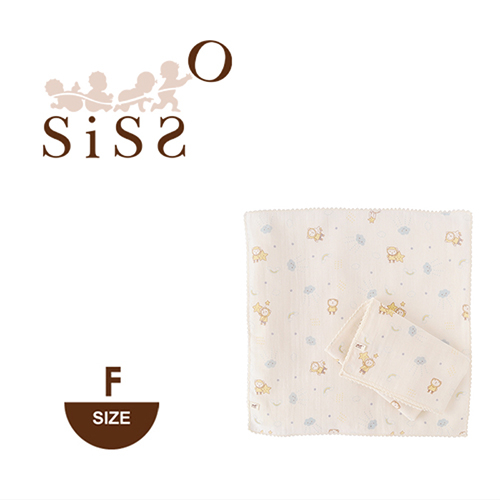 【SISSO有機棉】雲朵飛飛紗布手帕巾(二入)