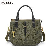 FOSSIL  RYDER  霧綠點點印花圓弧斜背包