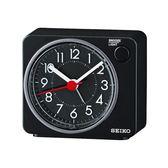 SEIKO鬧鐘 方形黑色滑動式秒針NV99