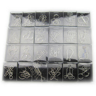 成人益智玩具 智力玩具 解鎖解環巧環 禮盒24件套 送九連環