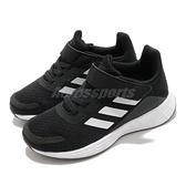 adidas 慢跑鞋 Duramo SL C 黑 白 童鞋 中童鞋 基本款 魔鬼氈 運動鞋【ACS】 FX7314