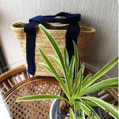 韓國ins爆款休閒草編手提包編織包