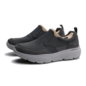SKECHERS 懶人鞋GO WALK DURO 灰麂皮紡織布拼接 男 (布魯克林) 216008CHAR