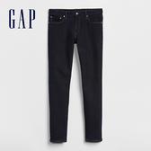 Gap男裝 基本款修身直筒樹脂水洗彈力牛仔褲 225549-水洗藏藍