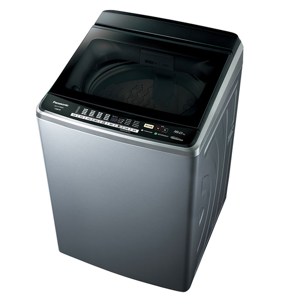 雙科技[國際牌17公斤變頻洗衣機V170GBS-S不鏽鋼外殼]ECONAVI智慧節能+奈米水離子