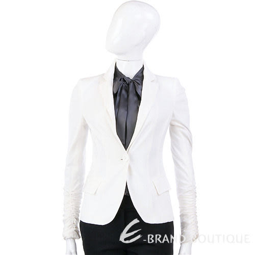 PAOLA FRAN 白色單釦西裝外套 1010466-20