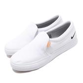Nike 休閒鞋 Wmns Court Royale AC SLP 白 黑 女鞋 男鞋 懶人鞋 小白鞋 基本款 運動鞋【PUMP306】 BQ9138-100