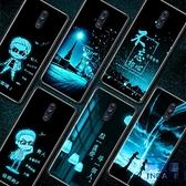 opporeno手機殼玻璃夜光潮牌全包鏡面硅膠軟超薄保護套【英賽德3C數碼館】