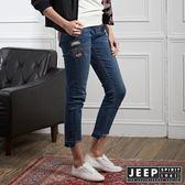 【JEEP】女裝 時尚造型修身牛仔褲