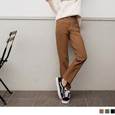 《BA4659-》高含棉簡約休閒素色直筒長褲 OB嚴選
