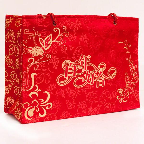 勝億 禮品袋  A款 絲綢手提袋-雙喜