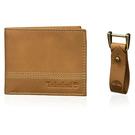 Timberland - 皮革雙折錢包/鑰匙鏈禮品套(黃褐色)
