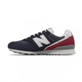 New Balance 女款復古休閒鞋 藍紅色-NO.WL996BA