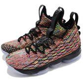 Nike 籃球鞋 LeBron XV EP 15 彩色 黑 氣墊 詹皇 高筒 運動鞋 【PUMP306】 AO1754-901