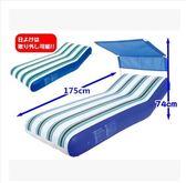 戶外帶遮陽棚沙灘休閒床水上浮排充氣墊SJ670『時尚玩家』