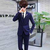 中大尺碼 二件套青少年秋季韓版西裝套裝修身型潮流男裝xx11393【每日三C】