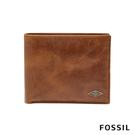 FOSSIL RYAN 真皮證件格RFID男夾-淺褐色 ML3829201