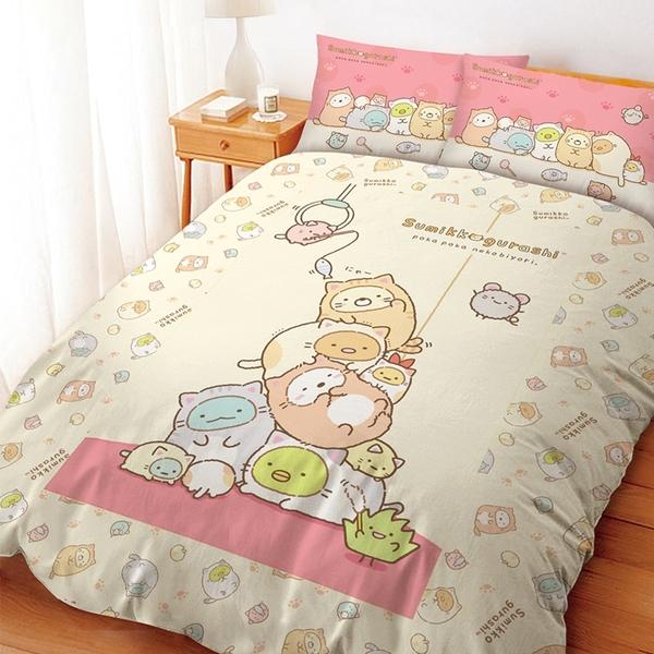 床包被套組/ 雙人【角落小夥伴逗逗貓】含兩件枕套 高密度磨毛 戀家小舖台灣製 角落生物
