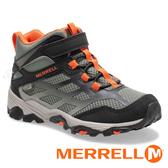 【MERRELL 美國】MOAB FST童多功能戶外健行鞋『黑灰/橘』K262575 機能鞋.多功能鞋.休閒鞋.童鞋